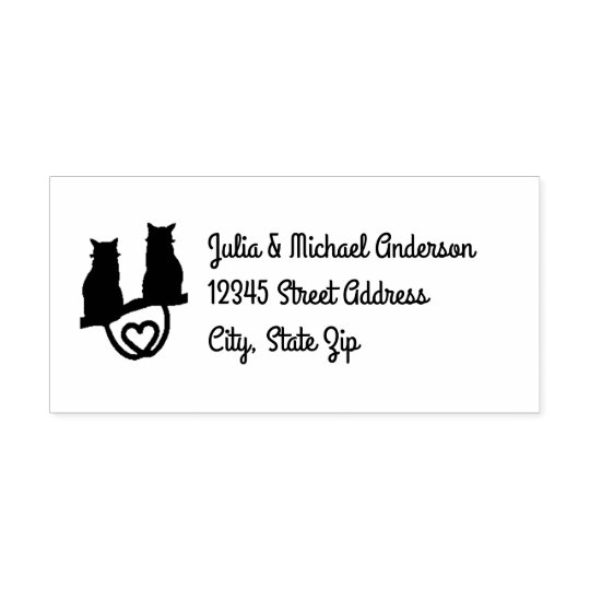 Cats in a Tree - Self-Inking Address Stamp