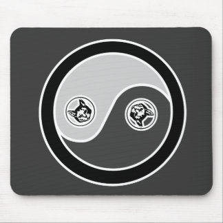 Cats in Balance 2 Yin Yang Mouse Pad