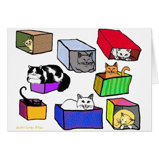 Cats in Boxes Card