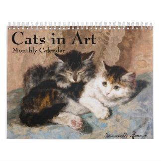 Cats in Fine Art Monthly 2016 Calendar