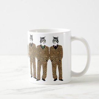 Cats in Jaguar Print Suits Gift Mug