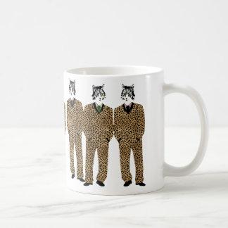 Cats in Jaguar Print Suits Gift Mug