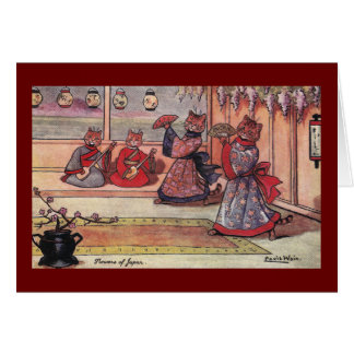 Cats in Kimonos Vintage Louis Wain Greeting Cards