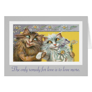 Cats in Love and Thoreau Quote Cards