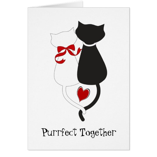 Cats in Love Cute Valentine's Day Card