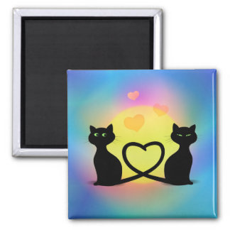 Cats In Love Magnets