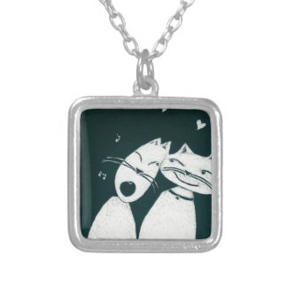 Cats in love custom jewelry