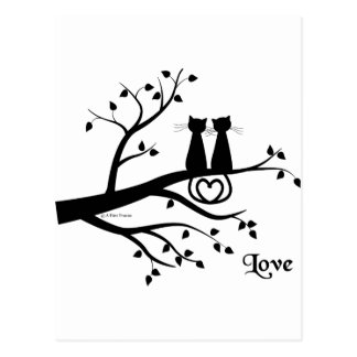 Cats in Love Postcards
