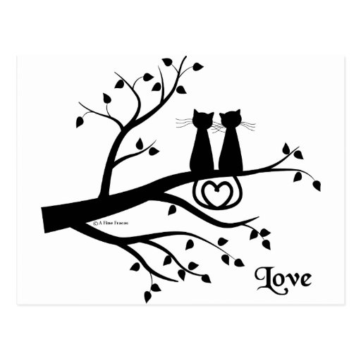 Cats in Love Post Cards