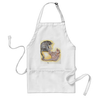 cats in love standard apron