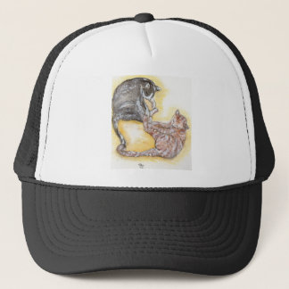 cats in love trucker hat