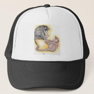 cats in love trucker hat