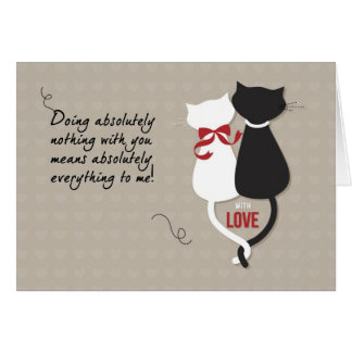 Cats in Love Valentine's Day Greeting Card