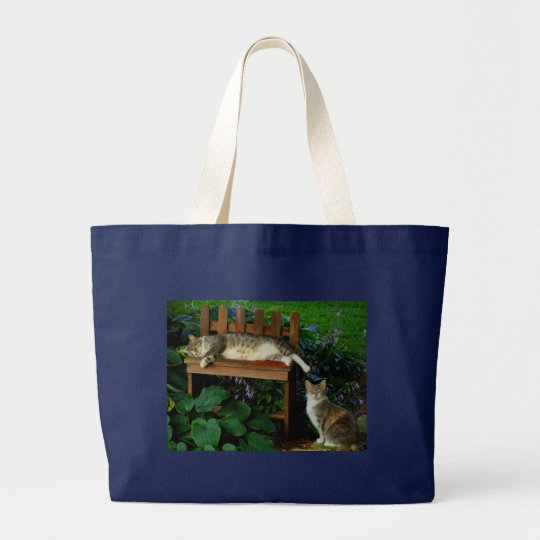 Cats in the Garden Large Tote Bag
