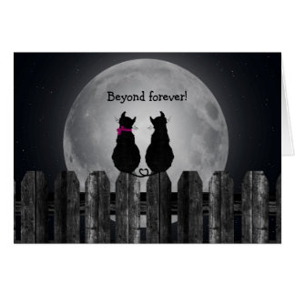 Cats in the Moonlight Greeting Card