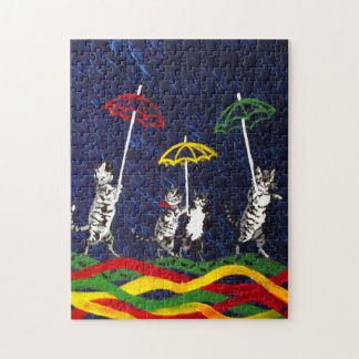 Cats in the Rain Jigsaw Puzzles