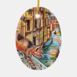 Cats In Venice Christmas Ornament