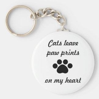 Cats Leave Paw Prints - Key Chain