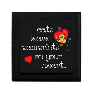 Cats leave pawprints on your heart. jewelry box