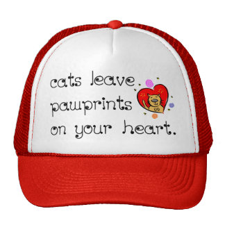 Cats leave pawprints on your heart. hat