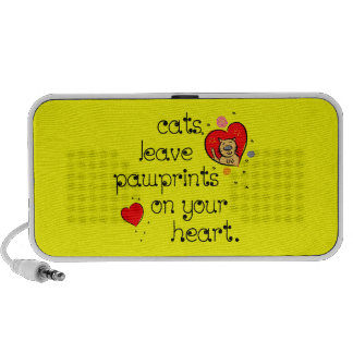 Cats leave pawprints on your heart laptop speaker