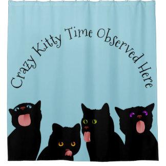 Cats Licking Windows Bath Time Fun! Shower Curtain