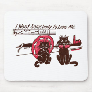 Cats Looking for Love at the Shore Mouse Pad