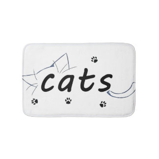 Cats love bath mat
