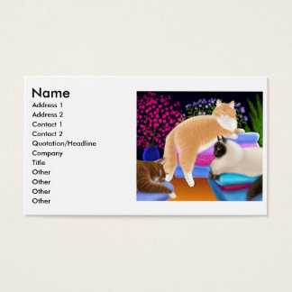 Cats Love Fresh Laundry Profile Card