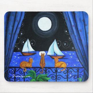 Cats Magical Night Nite Magic Mouse Mat