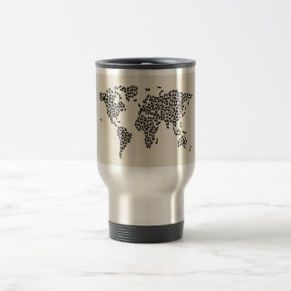 Cats Map of the World Map Mugs