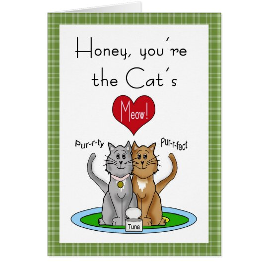 Cat's Meow Anniversary Card