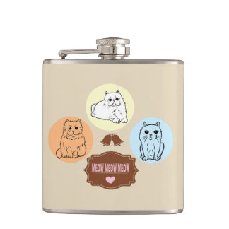 cats: meow meow meow hip flask