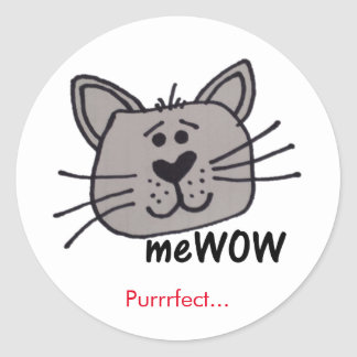 Cat's meWOW Good Job Reward Customisable Sticker