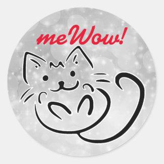 Cat's meWOW Sparkle Customisable Good Job Sticker