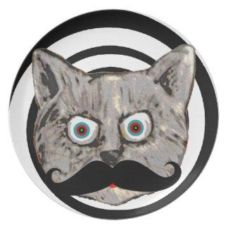 cat's mustache plate