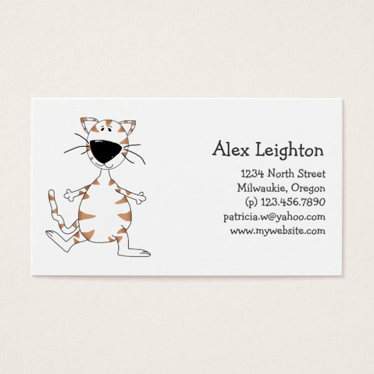 Cats 'n' Dogs · White Cat Business Card