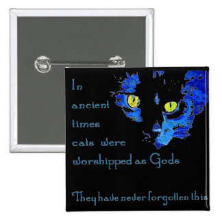 Cats Never Forget 15 Cm Square Badge