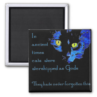 Cats Never Forget Square Magnet