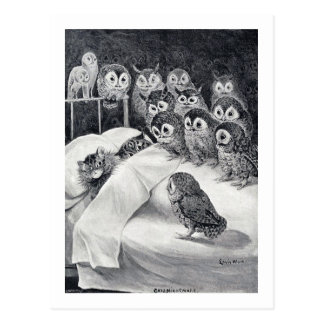 Cats Nightmare, Louis Wain Postcard