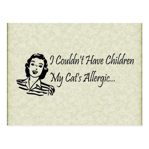 Cats Not Kids Postcard