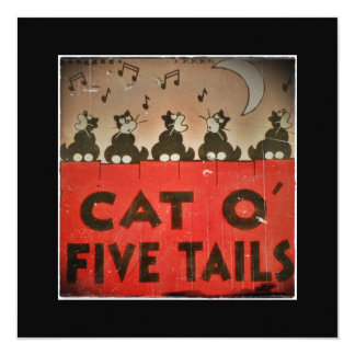 Cats of Five Tails 13 Cm X 13 Cm Square Invitation Card