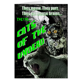 Cats of the Undead Halloween Card