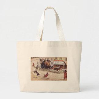 Cats on Coach Race Down High Street Jumbo Tote Bag