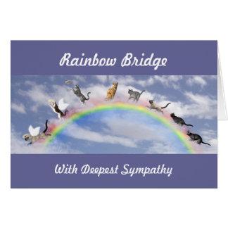 Cats On Rainbow Bridge Greeting Card