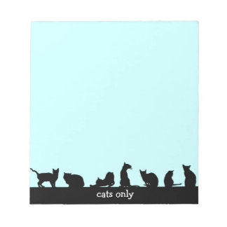 cats only notepad