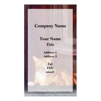 Cats - Orange Tabby in Doorway Business Cards
