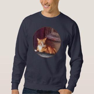Cats - Orange Tabby in Doorway Sweatshirt