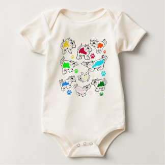 Cats painting baby bodysuit