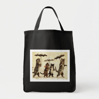 Cats parade grocery tote bag